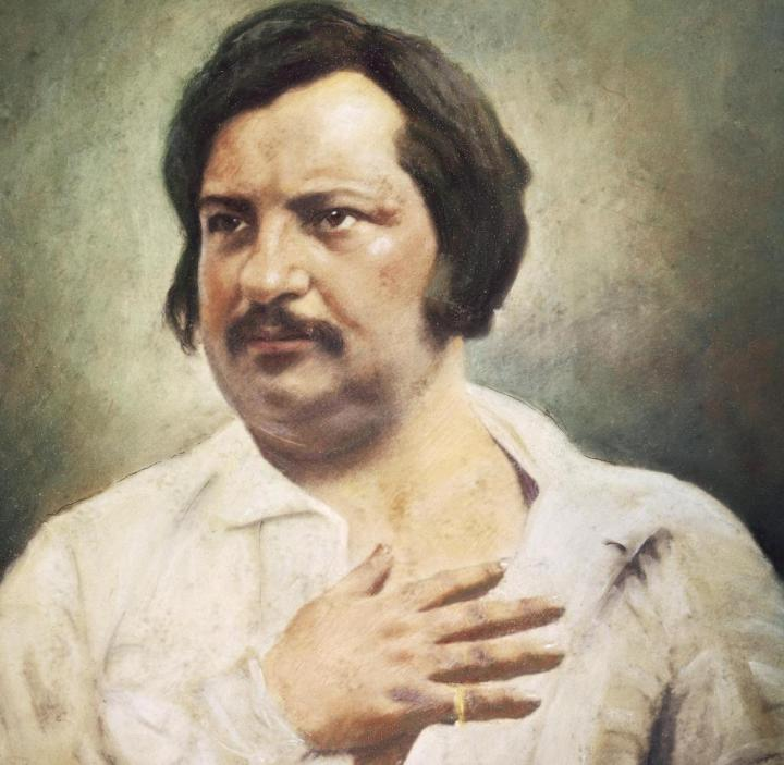 Portrait-of-Honore-de-Balzac-Tours-1799-Paris-1850-French-writer-Painting-from